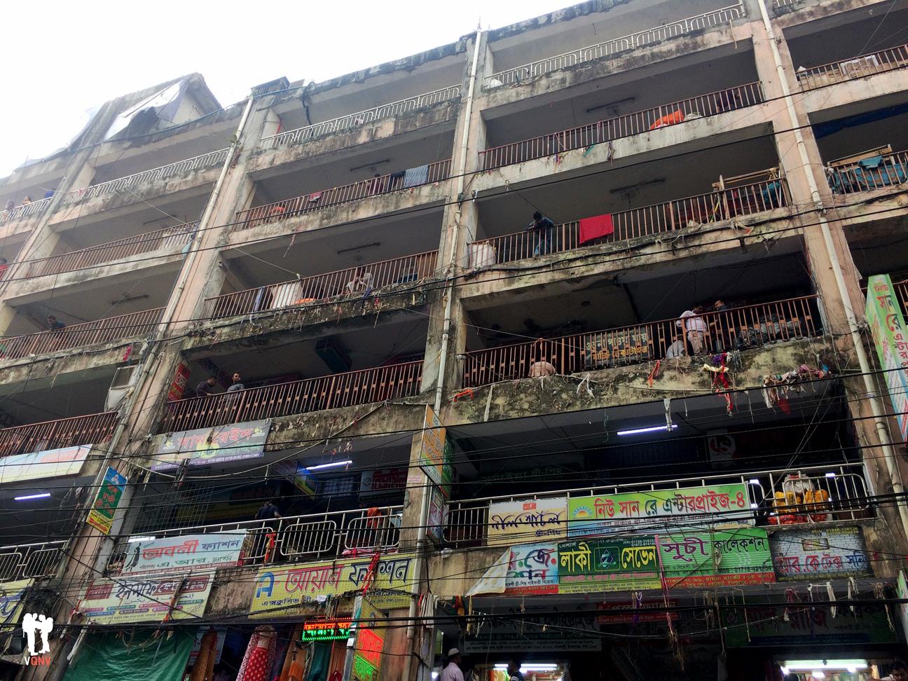 Centro comercial en Old Dhaka