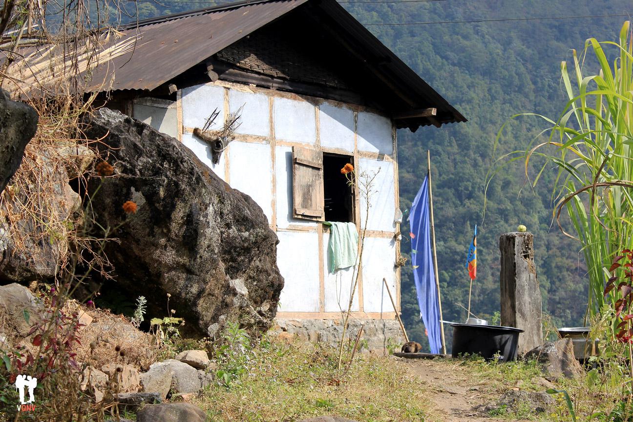 Casas de Kecheopalri a Yuksom