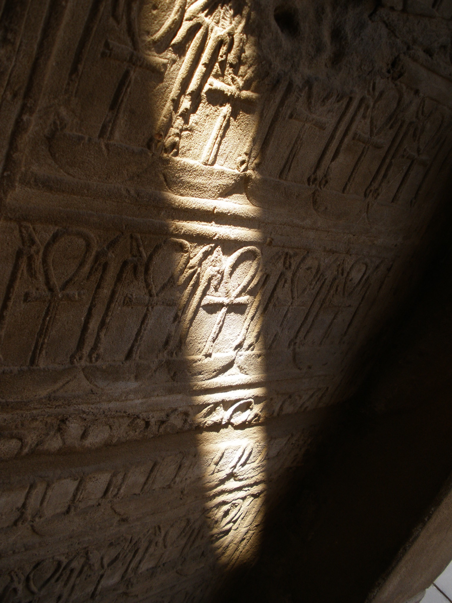Detalle en el Templo de Karnak