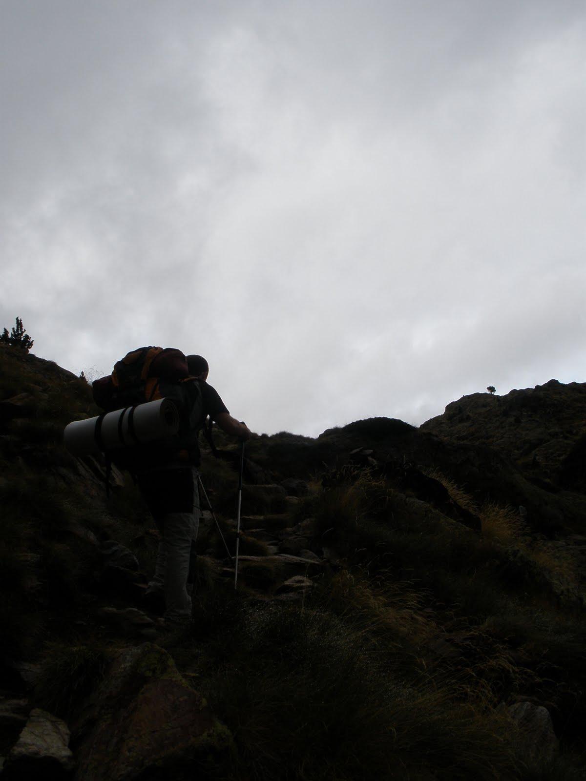 Subiendo por el barranco de Sotllo
